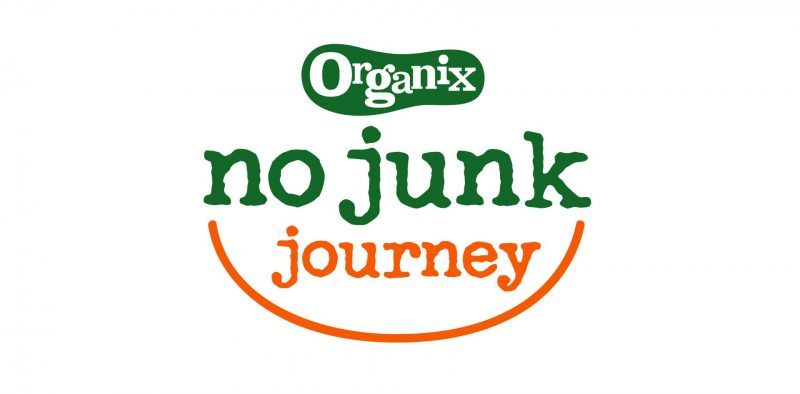 Do Big Brands Tell You the Full Story on Their Baby & Toddler Snack Packaging? - No Junk Journey, Organix NoJunk Logo 800x394%, health%