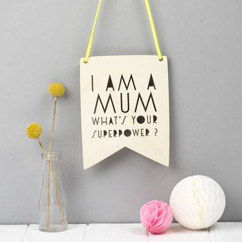 Mother's Day Gift Guide for Not on the High Street, normal mother s day wall pennant gift%, daily-dad, love-and-relationships%