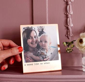 Mother's Day Gift Guide for Not on the High Street, normal personalised solid copper photo print%, daily-dad, love-and-relationships%